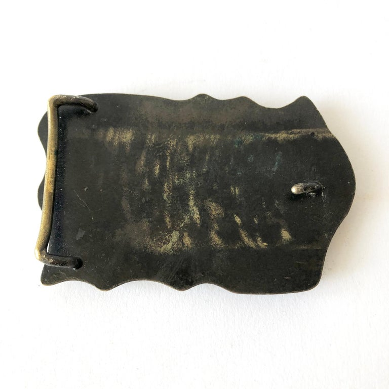 1970s Brutalist Bronze Spore Belt Buckle In Good Condition For Sale In Los Angeles, CA