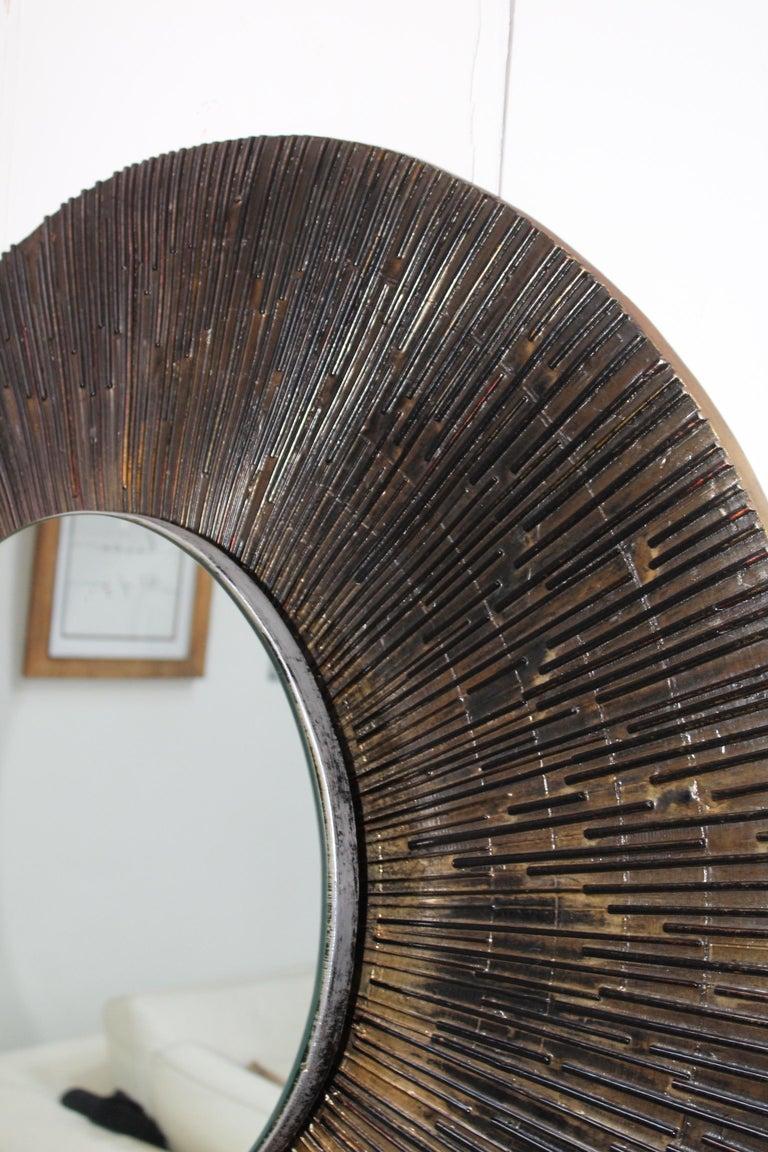 1970s Brutalist Paul Evans Style Wall Mirror 4