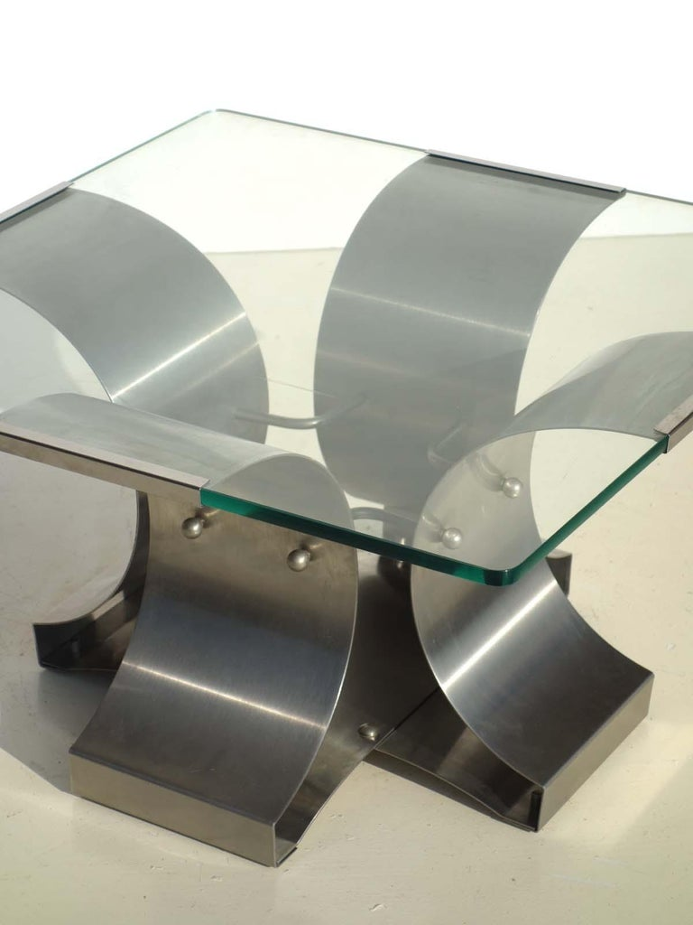 Coffee table designed by Francois Monnet, France, 1970s. 