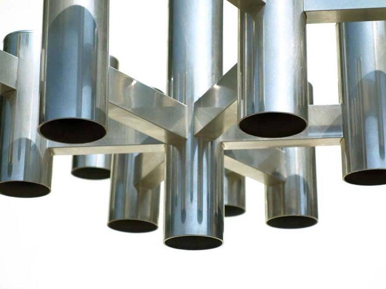 Gaetano Sciolari Rome, Italy 1970  Ceiling lamp with 16 lights Excellent condition.