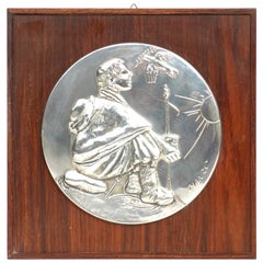 1970s by Giacomo Manzù for Franklin Mint Limited Etition Silver