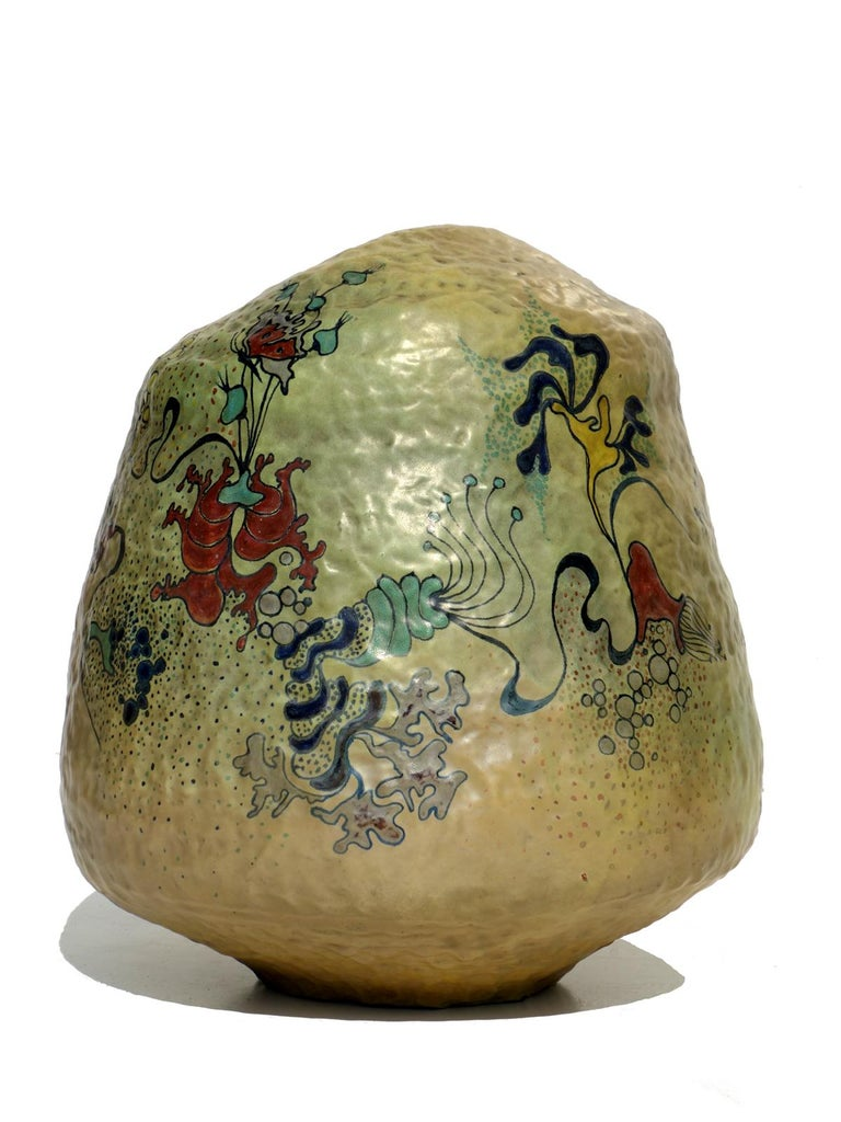 1970s by Giacomo Onestini Italian Pottery Big Sculpture Vase In Excellent Condition For Sale In Brescia, IT