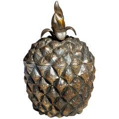 1970s by Roberta Wood Italian Design Metal Pineapple Ice Bucket
