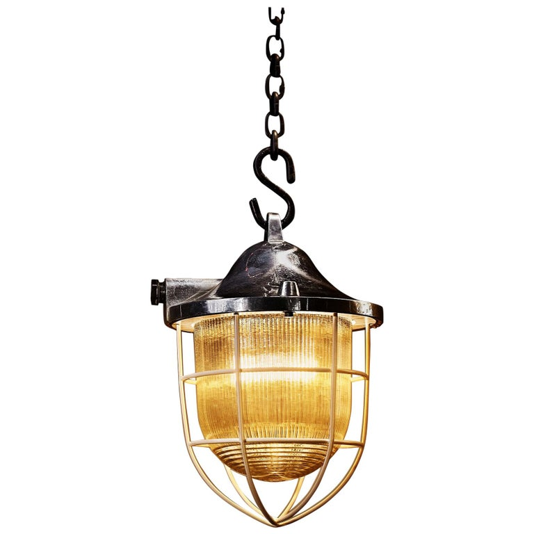 1970s C-150 Industrial Lamp Polished For Sale