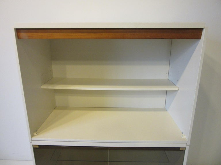 1970s Cabinet or Bookcase with Glass Doors For Sale 1