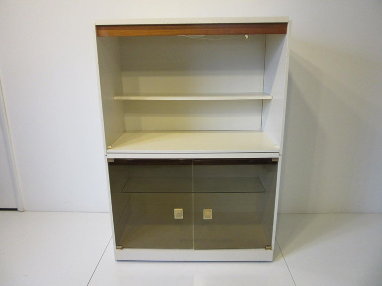1970s Cabinet or Bookcase with Glass Doors For Sale 2