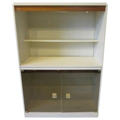 1970s Cabinet or Bookcase with Glass Doors