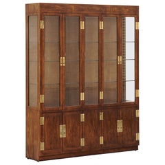 """1970s """"Campaign Series"""" Modern China Cabinet by Henredon"""