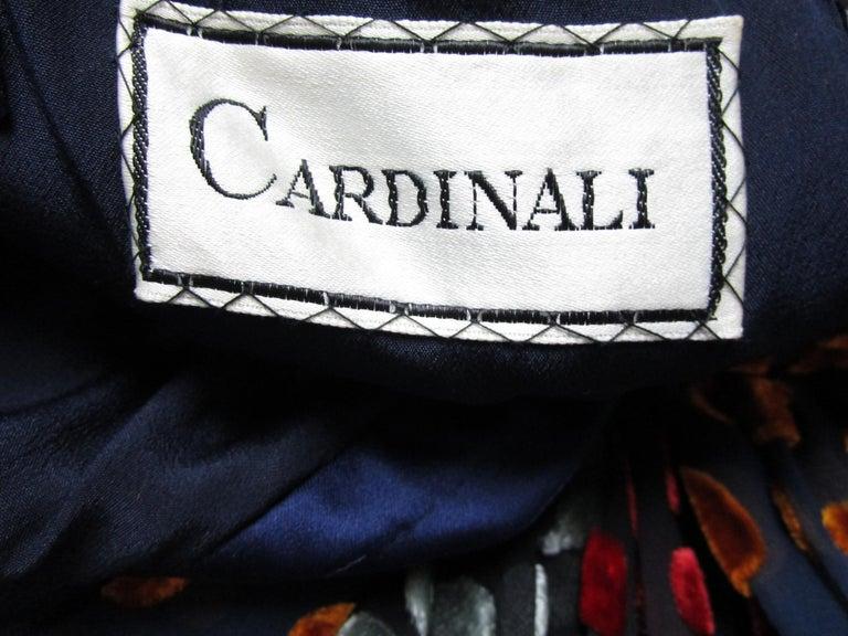 1970s Cardinali Multi-Colored Burnout Velvet Polka Dot Romper  For Sale 4
