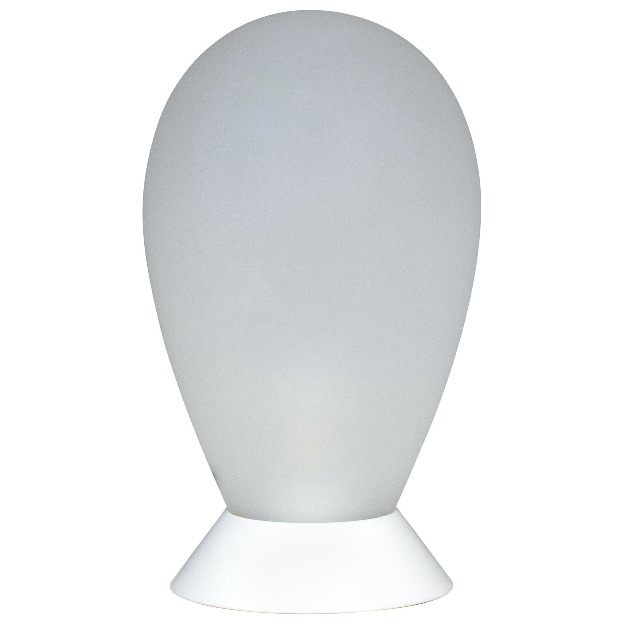 1970s Carlo Nason Table Lamp In White Murano Glass