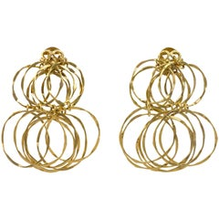 1970s Cartier Gold Cascade Circular Link Earrings