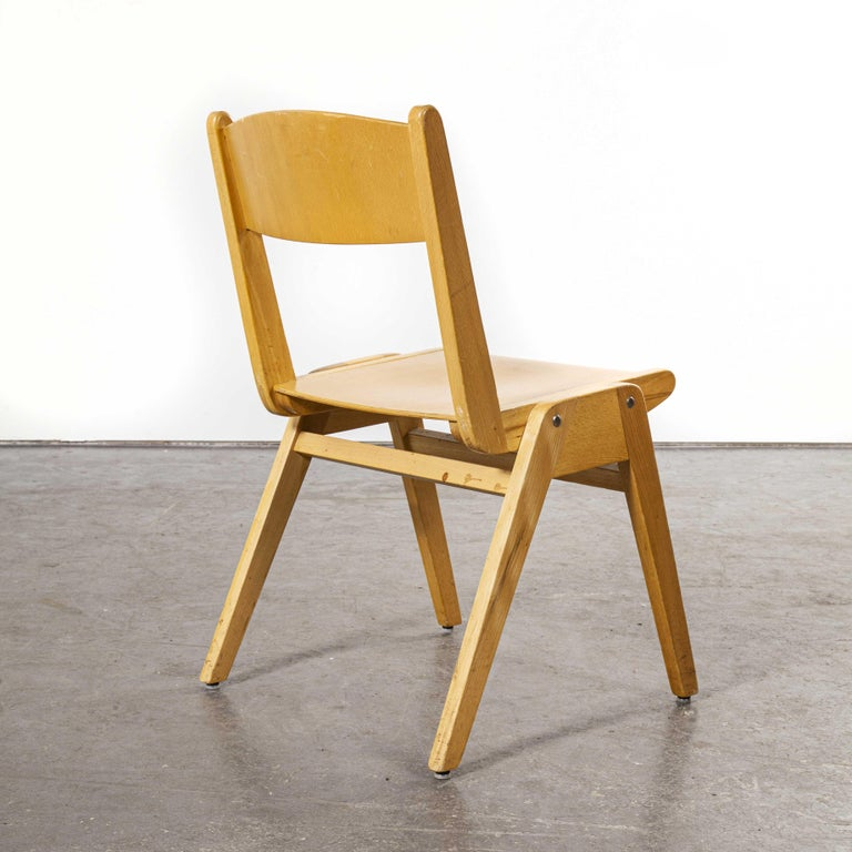 Beech 1970s Casala Stacking Dining Chair, Set of Eight For Sale