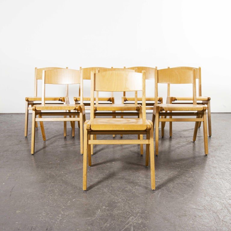 1970s Casala Stacking Dining Chair, Set of Eight For Sale 3