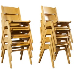 1970s Casala Stacking Dining Chair, Set of Eight