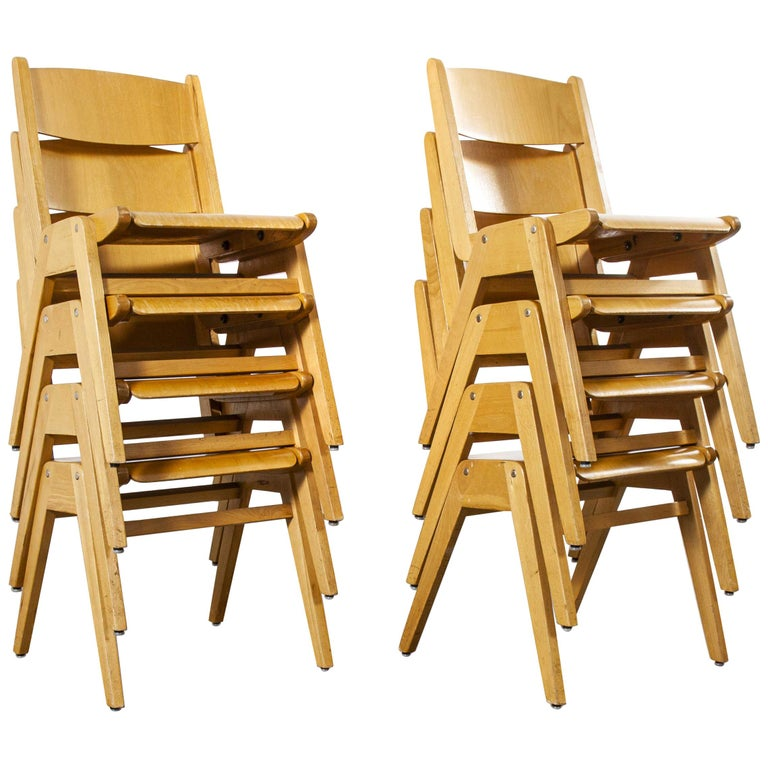 1970s Casala Stacking Dining Chair, Set of Eight For Sale