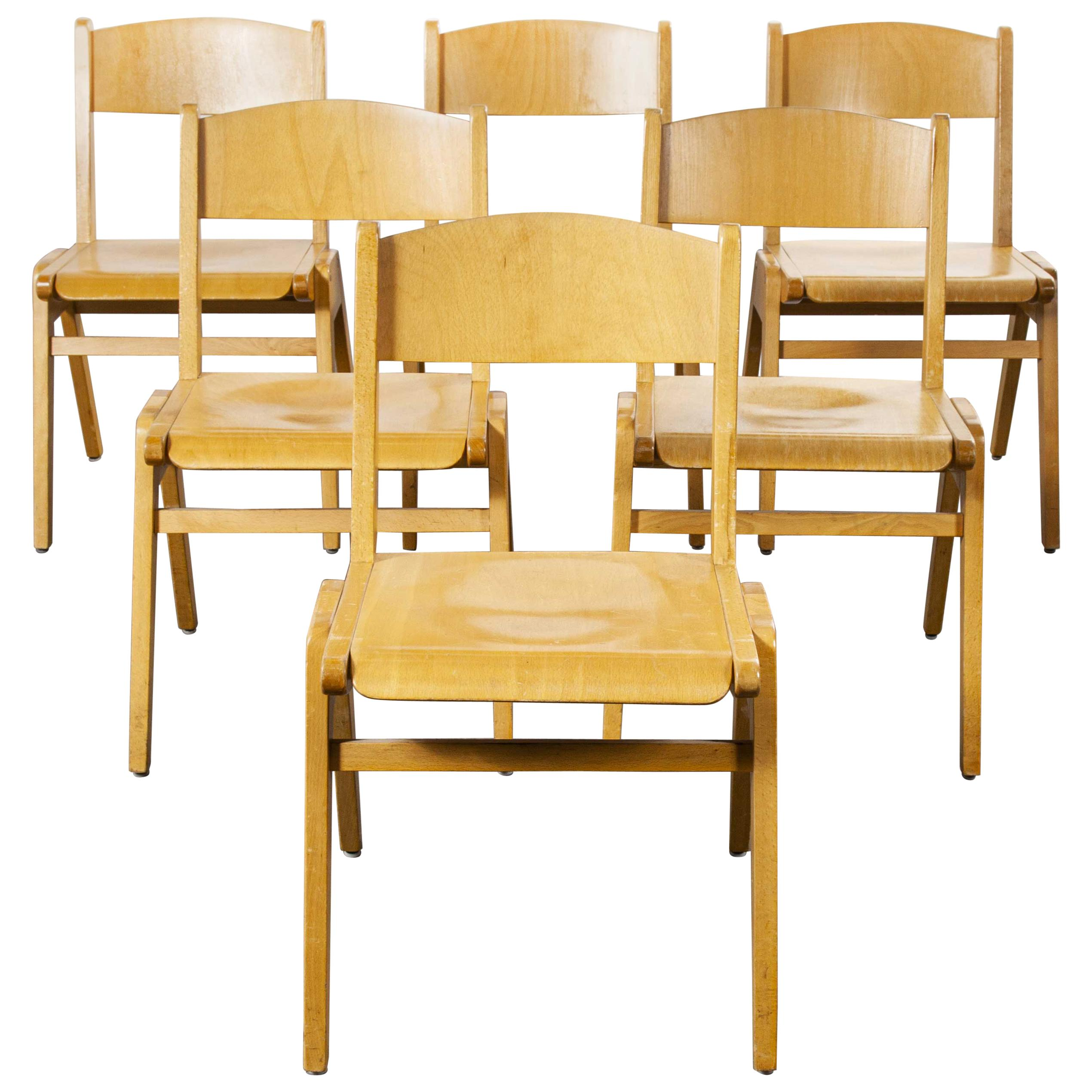 1970s Casala Stacking Dining Chair, Set of Six