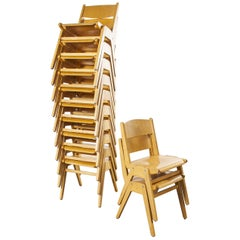 1970s Casala Stacking Dining Chair, Set of Twelve