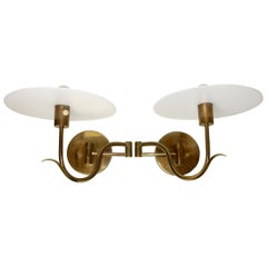 Casella Brass Swing arm Petal Wall Lamp Sconces