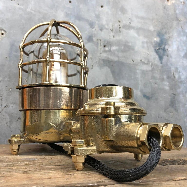 1970s Cast Brass and Bronze Explosion Proof Table Lamp with Isolator Switch For Sale 2