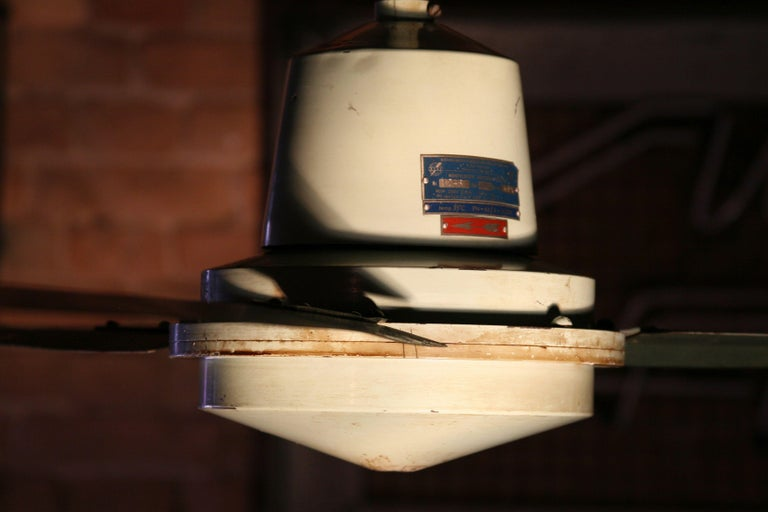 Steel 1970s Ceiling Fan Model EOL For Sale