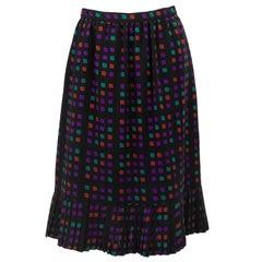 1970s Celine Geometric Skirt