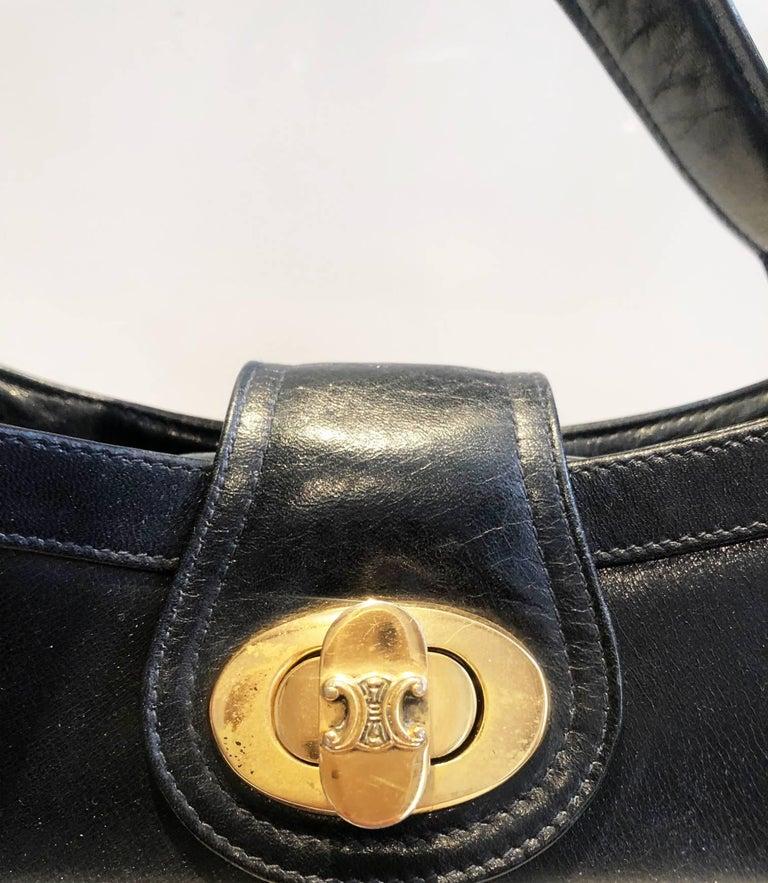 1970s Celine Paris tri color tote bag  For Sale 2