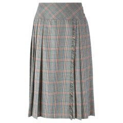 1970s Céline Prince Of Wales Skirt