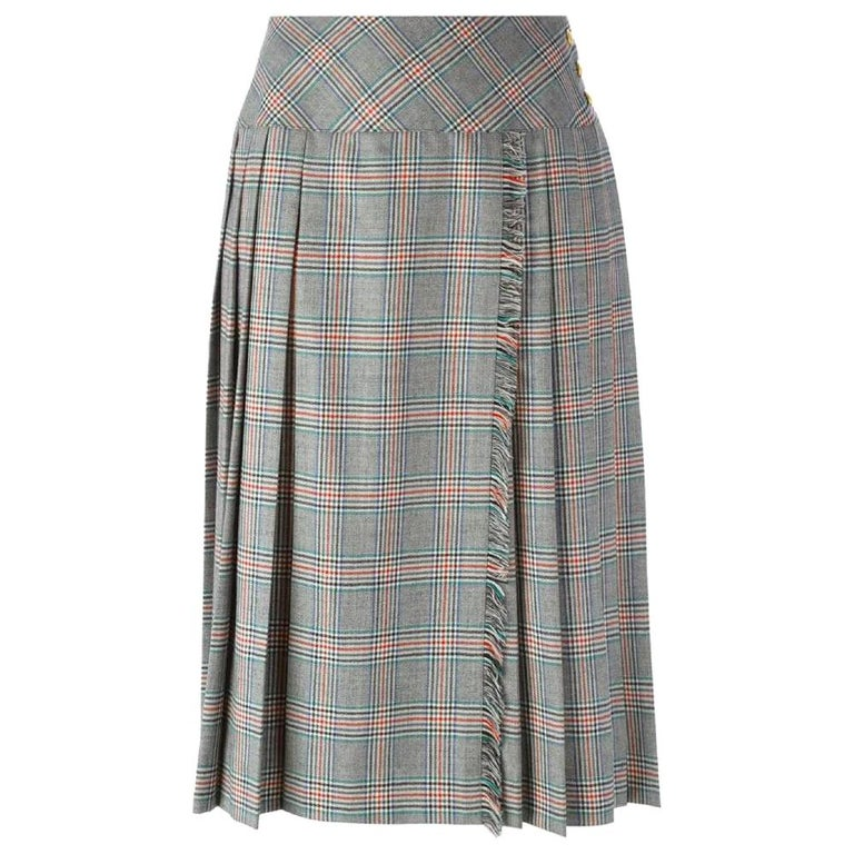 1970s Céline Prince Of Wales Skirt For Sale