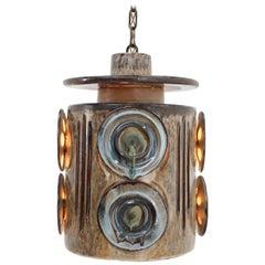 1970s Ceramic Pendant Lamp by Jette Helleroe for Axella, Denmark