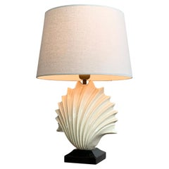 1970's Ceramic Shell Table Lamp
