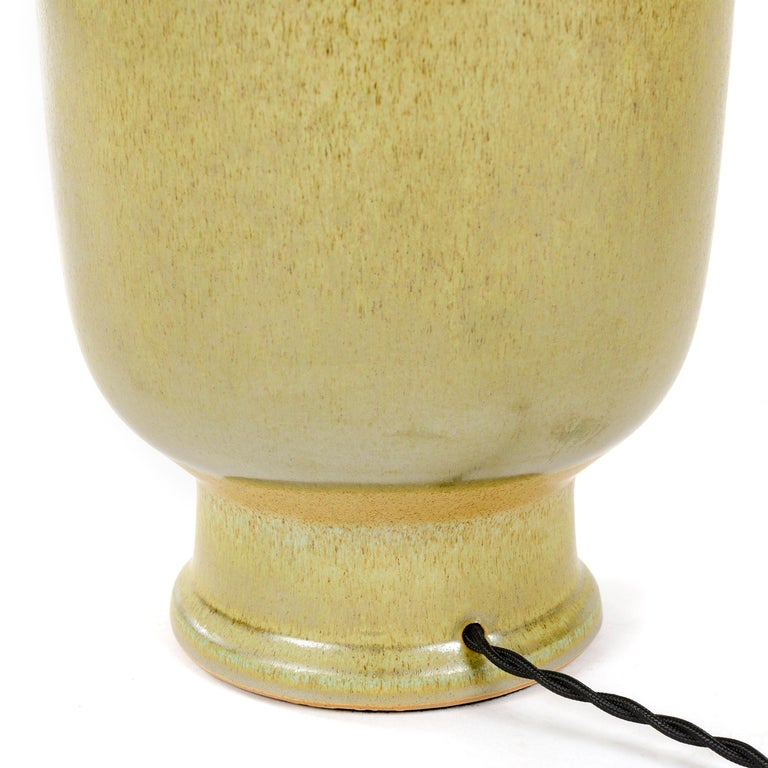 Glazed 1970s Ceramic Table Lamp by Lee Rosen for Design Technics For Sale