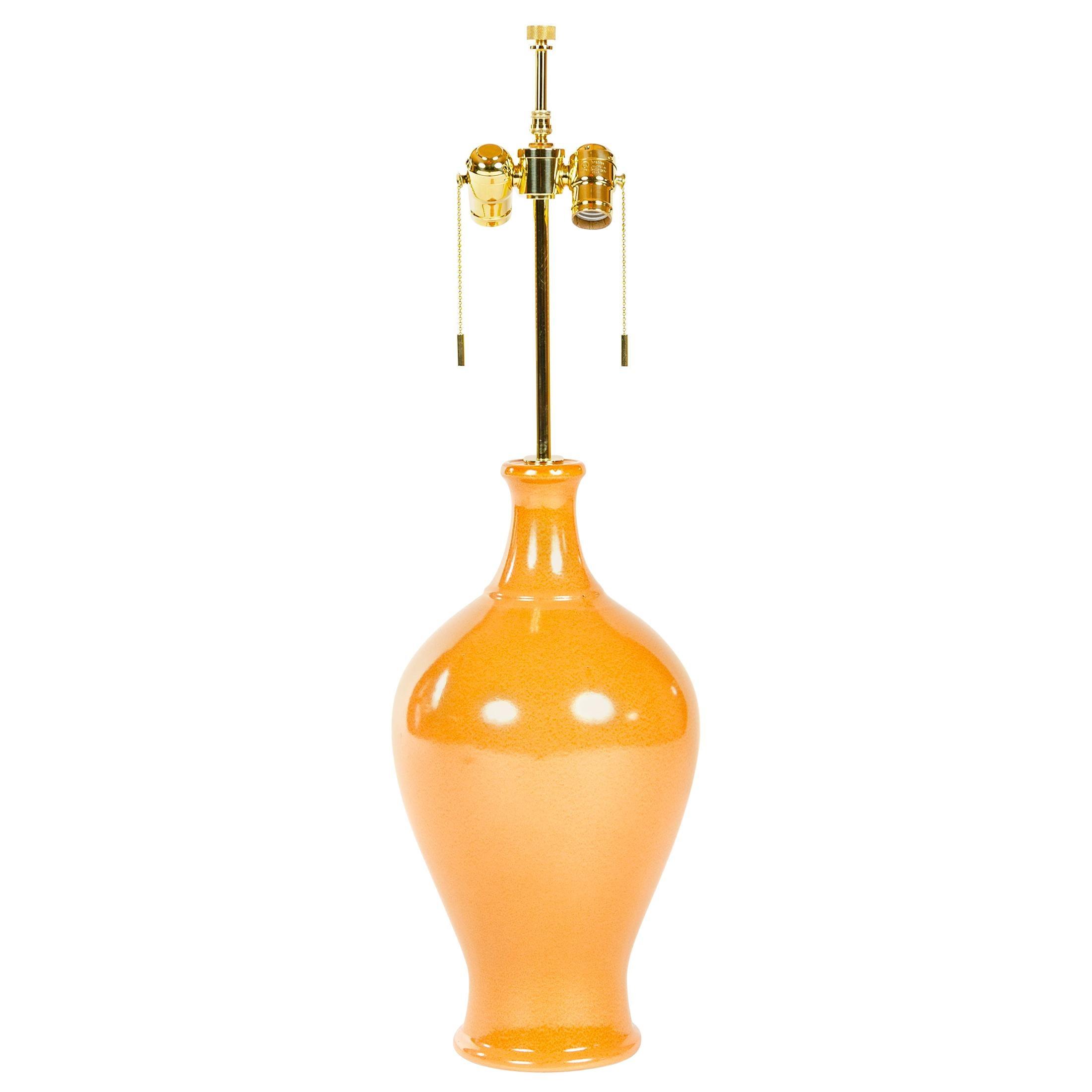 1970s Ceramic Table Lamp by Lee Rosen for Design Technics
