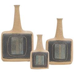 1970s Ceramic Vases by Bruno Gambone