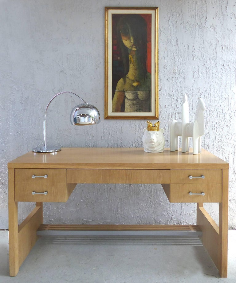 Century Furniture Sale: Jay Spectre For Century Furniture 1970s Cerused Oak Desk