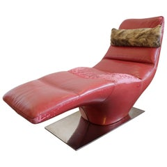 1970s Chaise Longue in the Manner of Milo Baughman