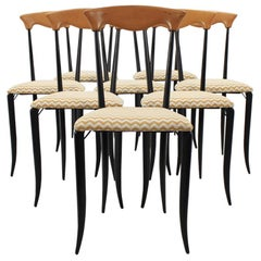 1970s Charme Chairs by Fasem Italy, Set of 8