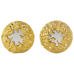1970s Chaumet White and Yellow Gold Ear Clips
