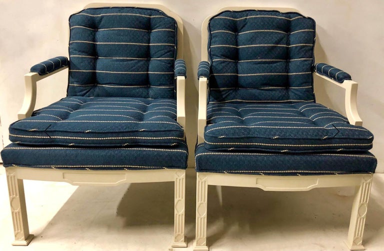 1970s Chinese Chippendale Style Chairs by Erwin Lambeth -A Pair In Good Condition For Sale In Kennesaw, GA