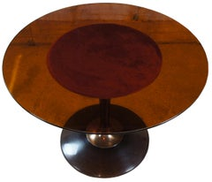 1970s Chromcraft Atomic Mid-Century Modern Smoked Lucite Dining Table Saarinen