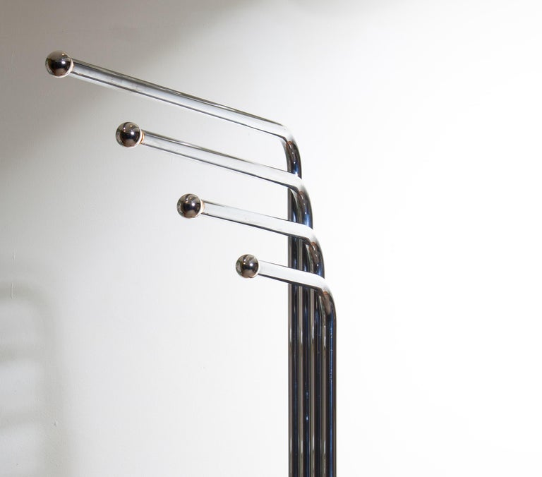 1970s Chrome and Black Tube Floor Lamp by Goffredo Reggiani for Reggiani, Italy For Sale 1