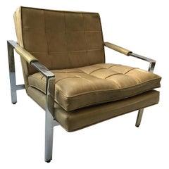 1970s Chrome Lounge Chair