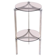 1970s Chrome Side Table