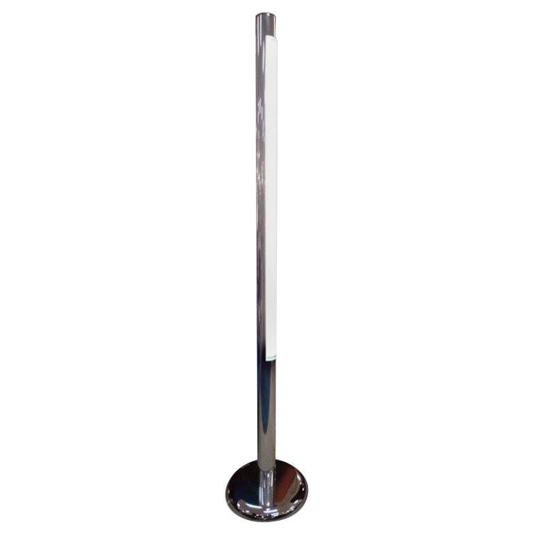 1970's Chromed Steel Floor Lamp