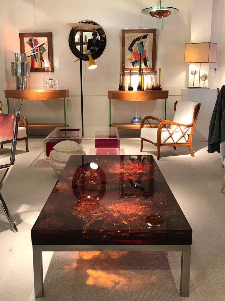 1970s Coffee Table by Marie-Claude de Fouquieres For Sale 11