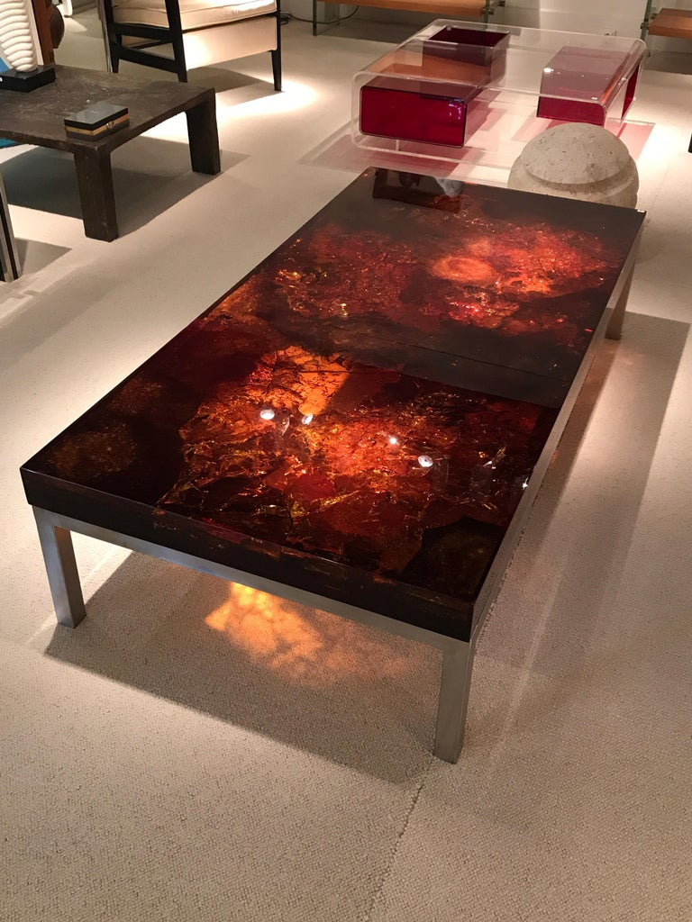 Mid-Century Modern 1970s Coffee Table by Marie-Claude de Fouquieres For Sale
