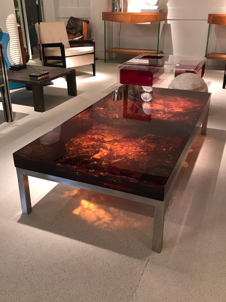Late 20th Century 1970s Coffee Table by Marie-Claude de Fouquieres For Sale