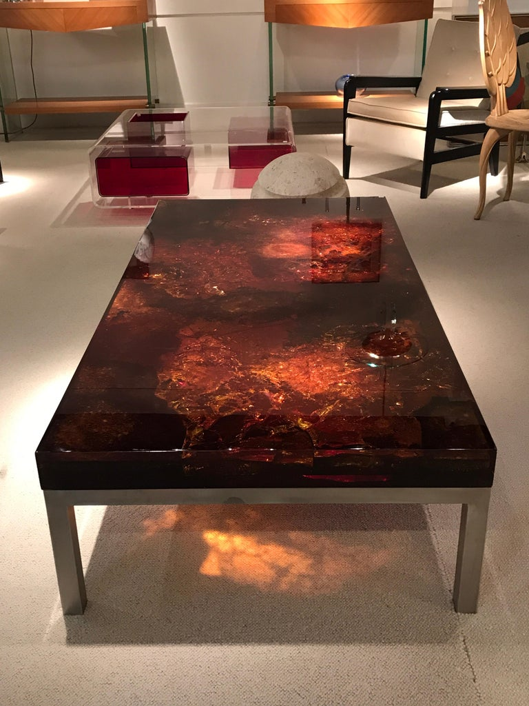 1970s Coffee Table by Marie-Claude de Fouquieres For Sale 2