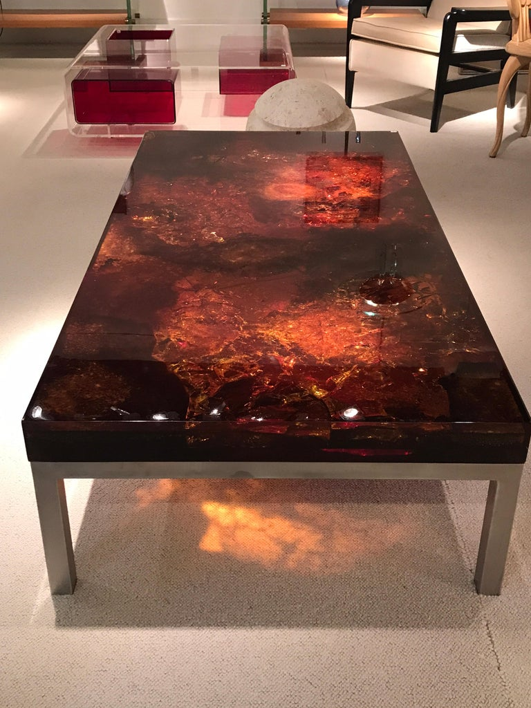 1970s Coffee Table by Marie-Claude de Fouquieres For Sale 4
