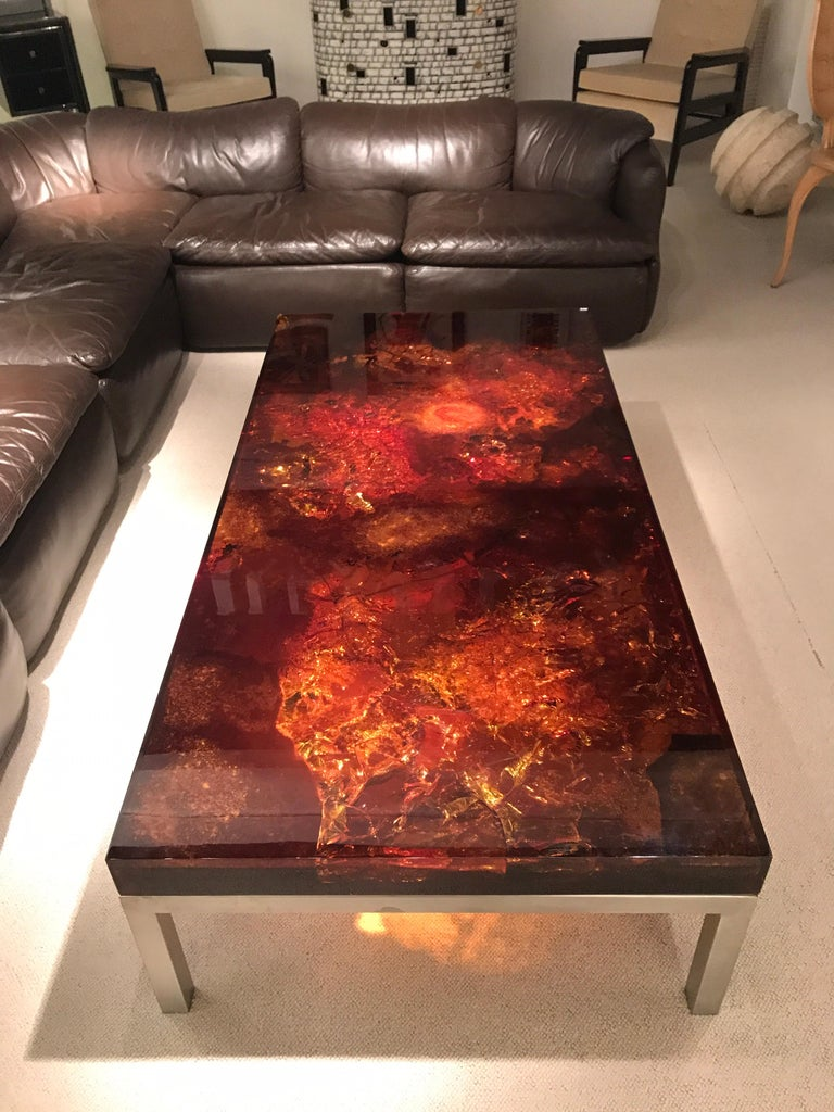1970s Coffee Table by Marie-Claude de Fouquieres For Sale 1