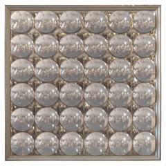 """37.5"""" 1970s Convex Bubble Mirror"""